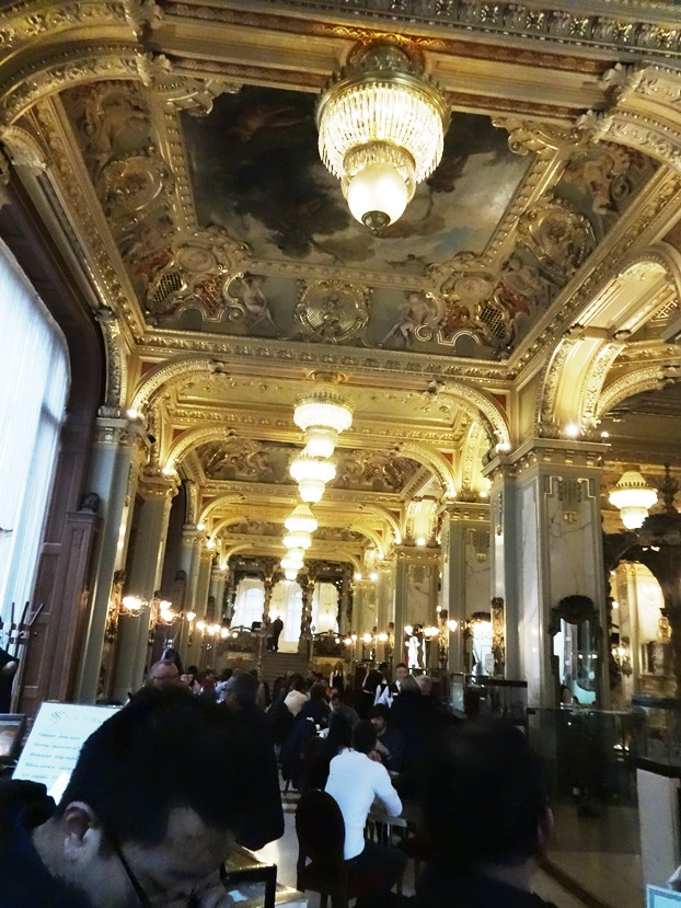 New York Cafe in Budapest. Recommended by Rick Steves, and he was right! Go there!