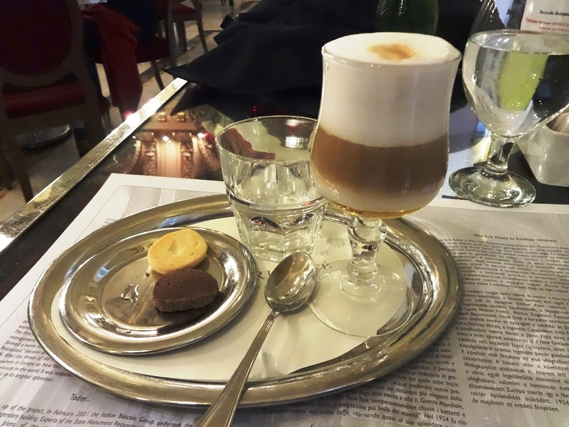 Magyar Kave (Hungarian Coffee) at the New York Cafe. Budapest