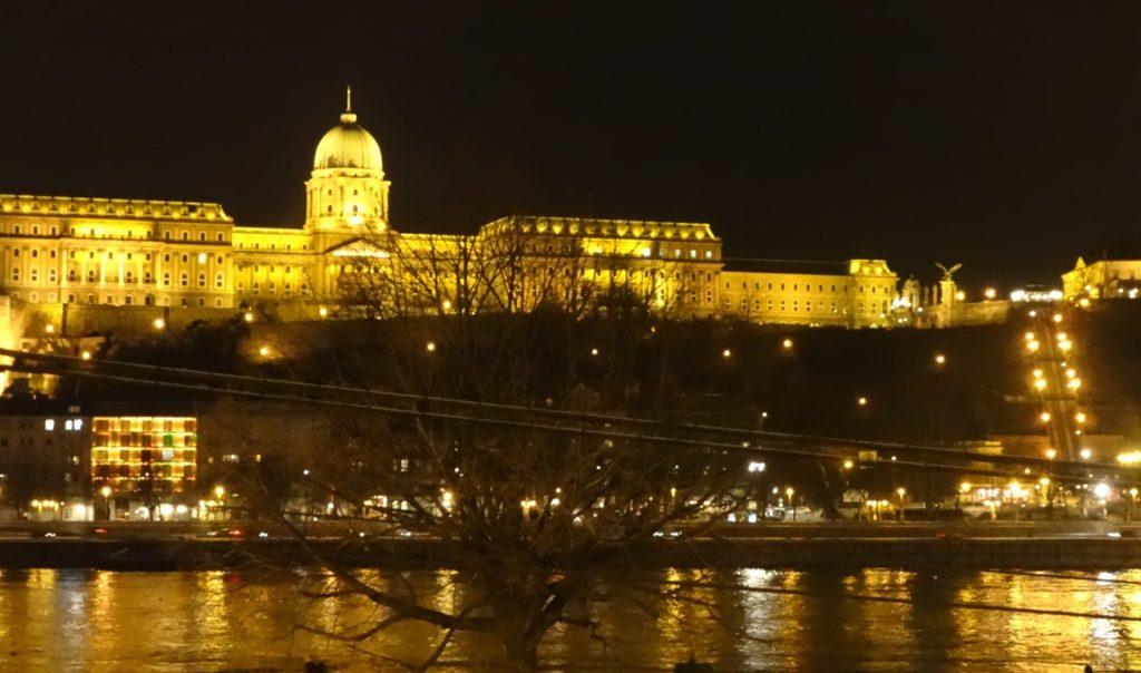 Buda Castle at night. Budapest