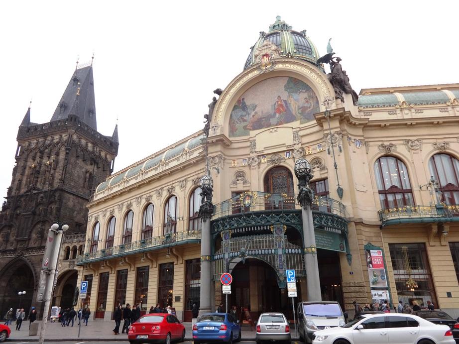 Municipal House Historic Theater, Prague.
