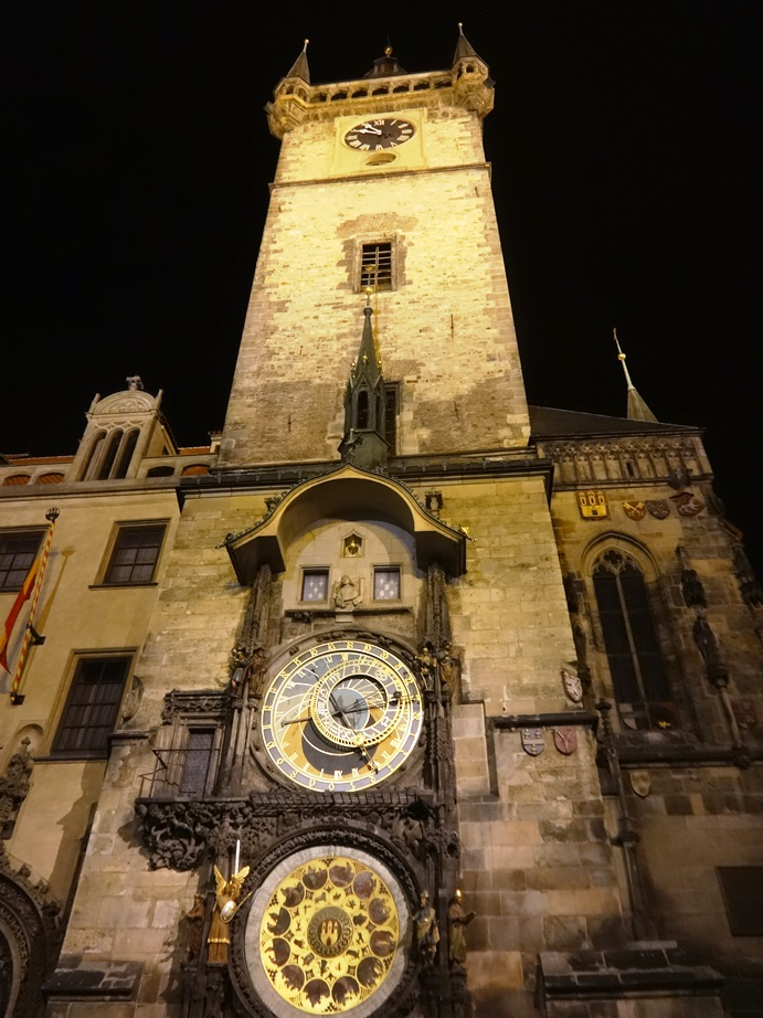 Astronomical Clock on Old Town Hall in Prague.