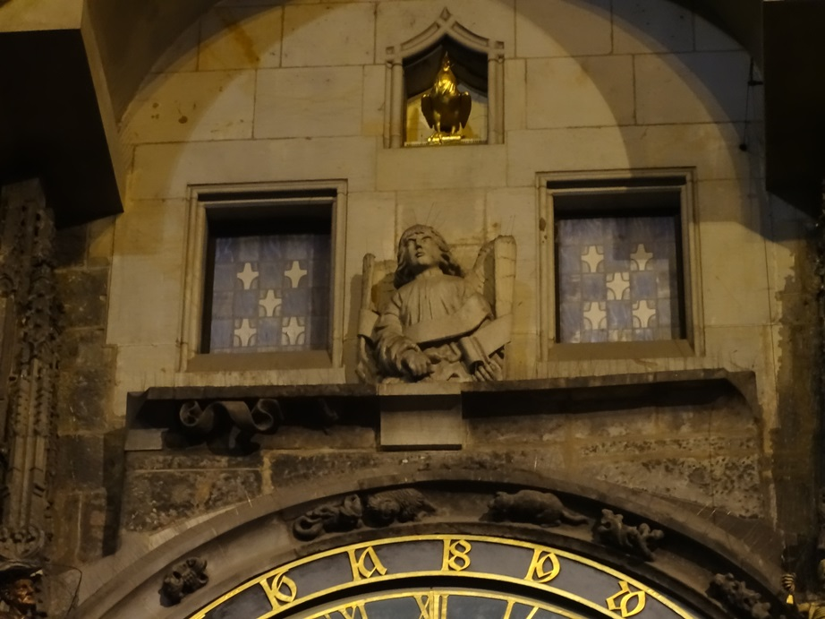 """Astronomical Clock, Old Town Prague. On the hour, there is a """"show,"""" where the twelve apostles go by the little windows. I can't tell you how many times I missed that show by 30 seconds before FiNALLY getting to see it."""