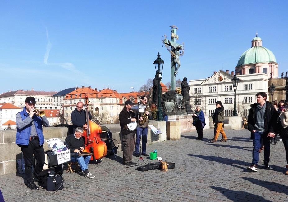 Charles Bridge, Prague. There was good music everywhere in Prague.