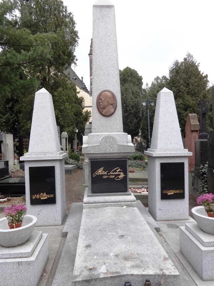 Smetana's grave. Vyšehrad Cemetery, Prague